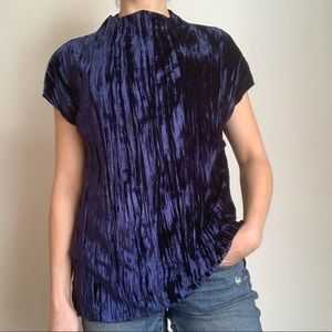 Zara wb collection crushed velvet high neck top